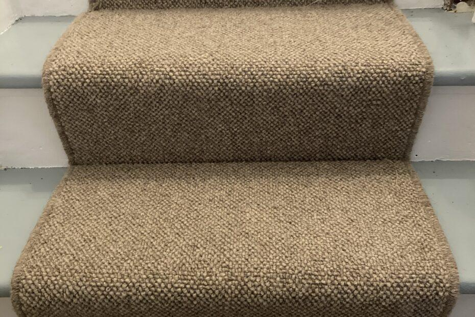 Small set of steps with a runner